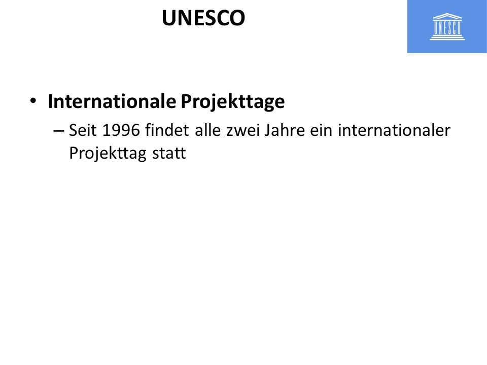UNESCO Internationale Projekttage