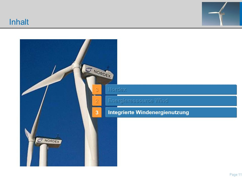 Inhalt … 3 Nordex 2 Energieressource Wind 3