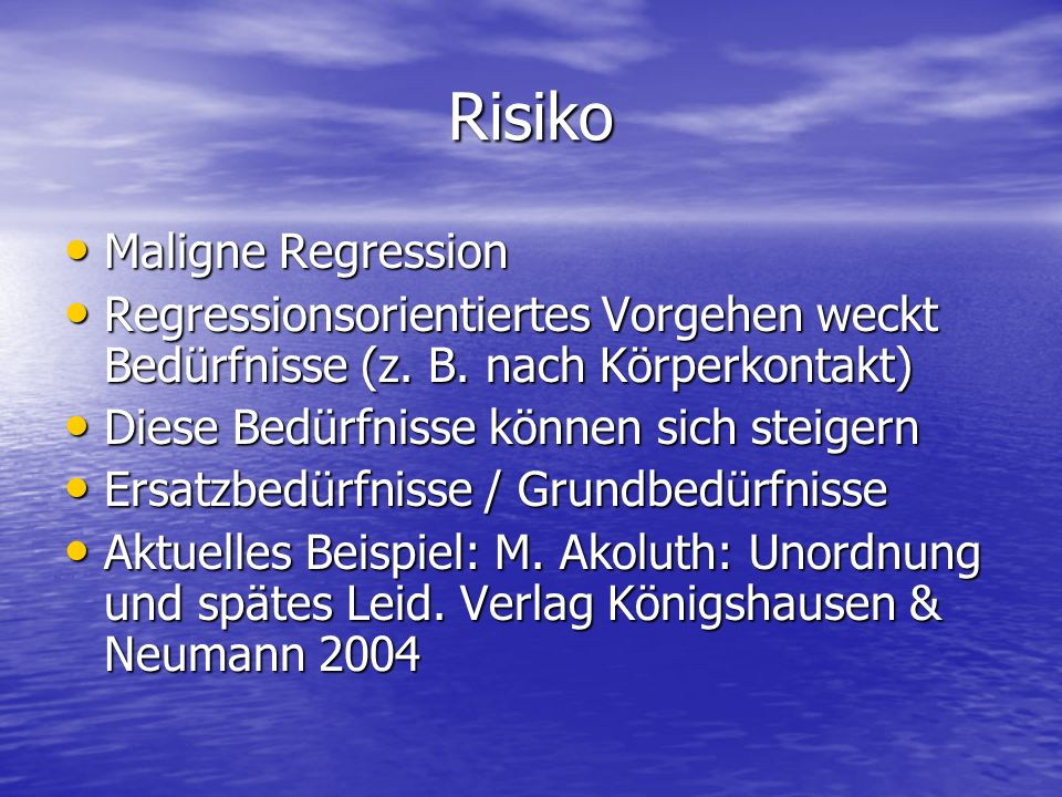 Risiko Maligne Regression