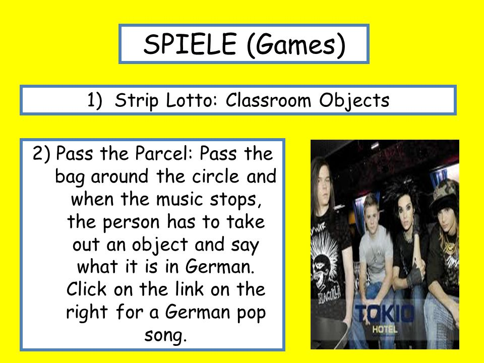Strip Lotto: Classroom Objects