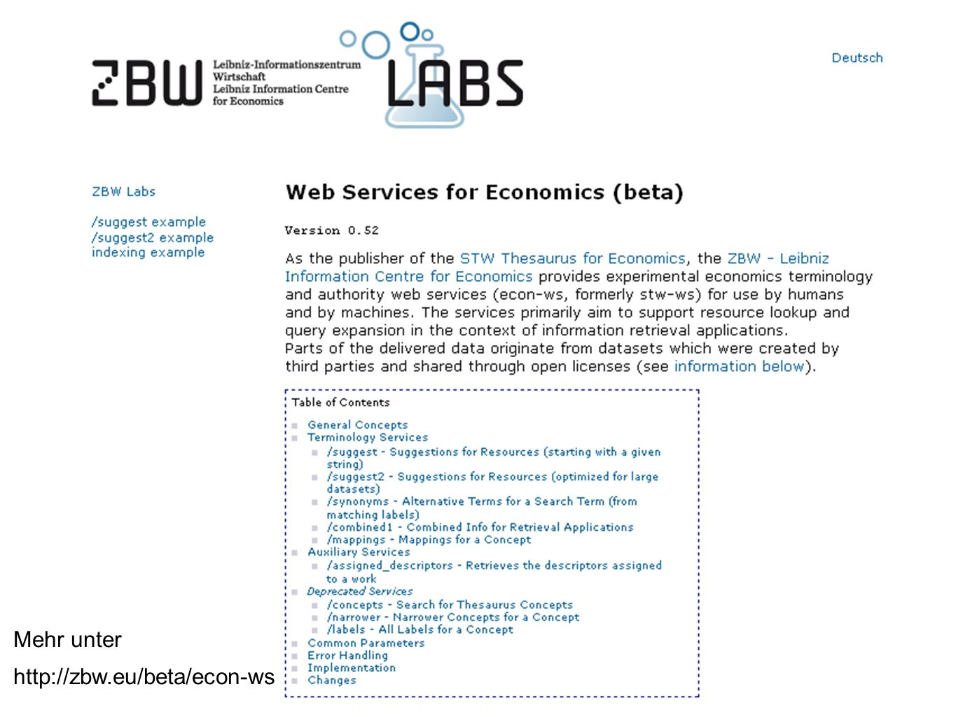 Web Services for Economics