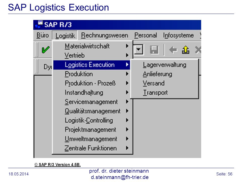 SAP Logistics Execution