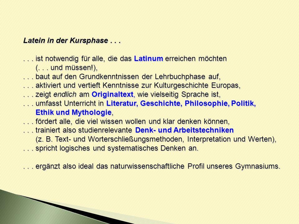 Latein In Der Kursphase Ppt Video Online Herunterladen