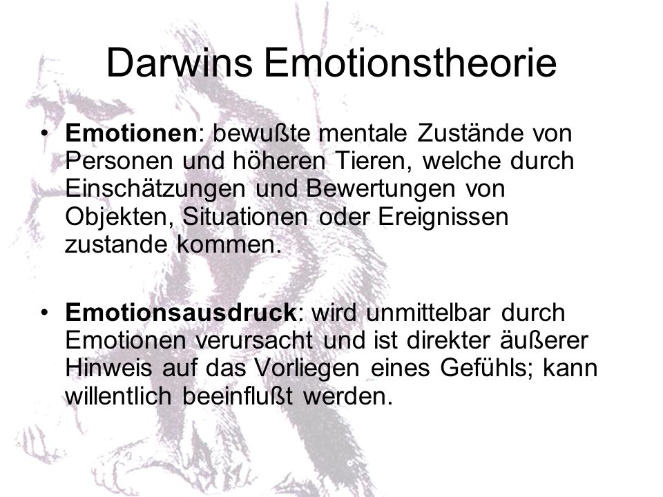 Darwins Emotionstheorie