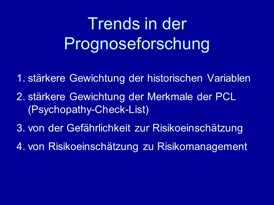 Trends in der Prognoseforschung