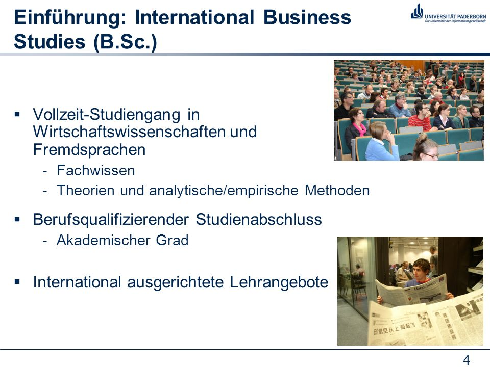 Einführung: International Business Studies (B.Sc.)