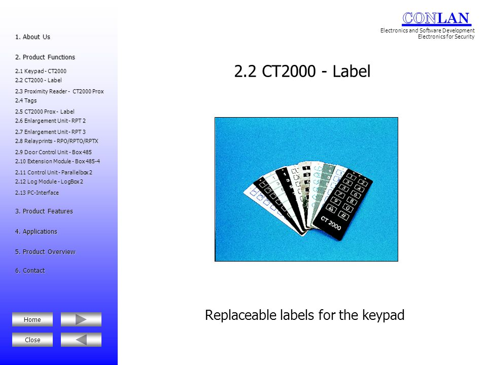 Replaceable labels for the keypad