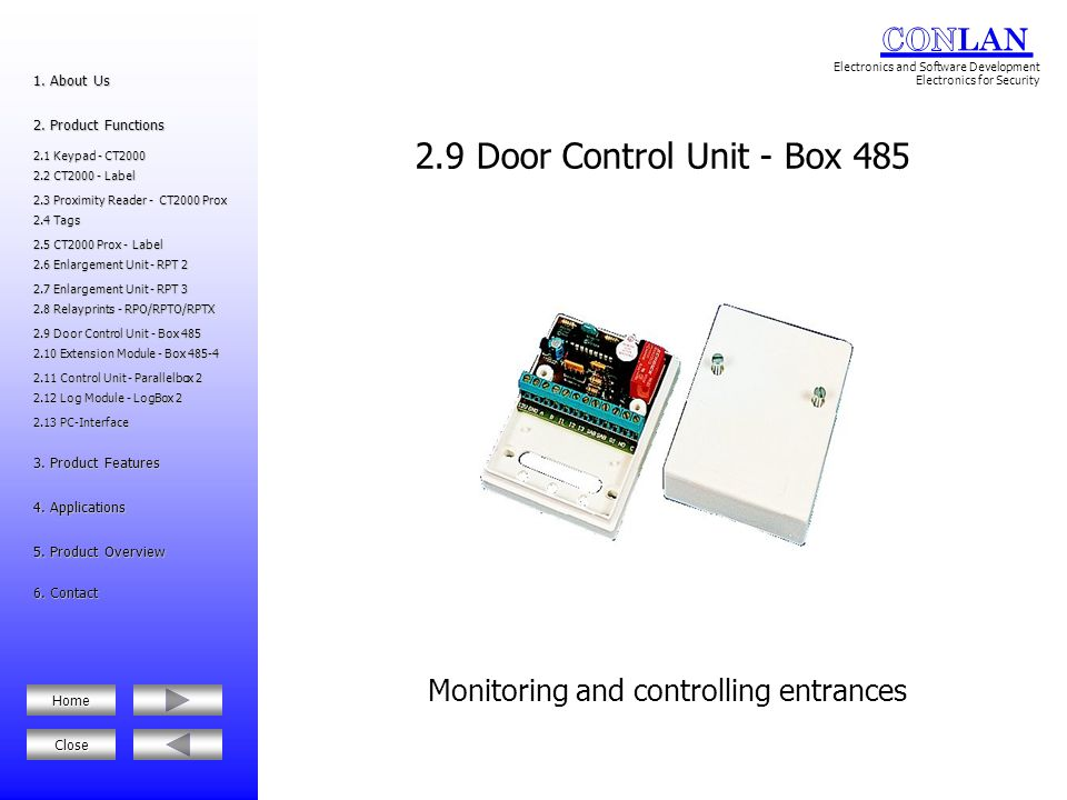 Monitoring and controlling entrances