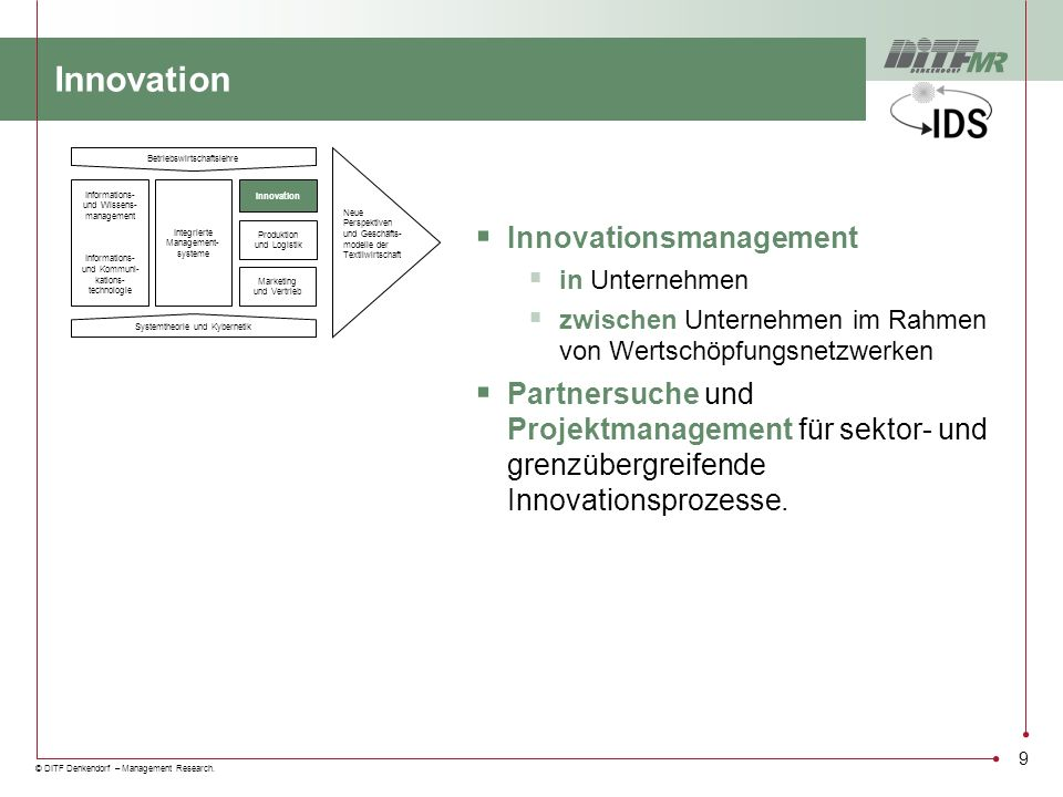 Innovation Innovationsmanagement