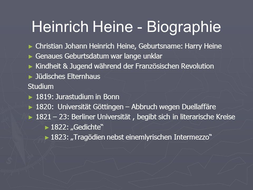 heinrich heine biographie - Heinrich Heine Lebenslauf
