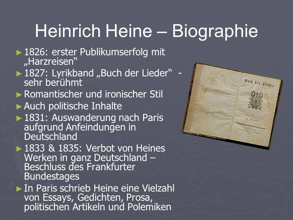 13 heinrich heine biographie - Heinrich Heine Lebenslauf