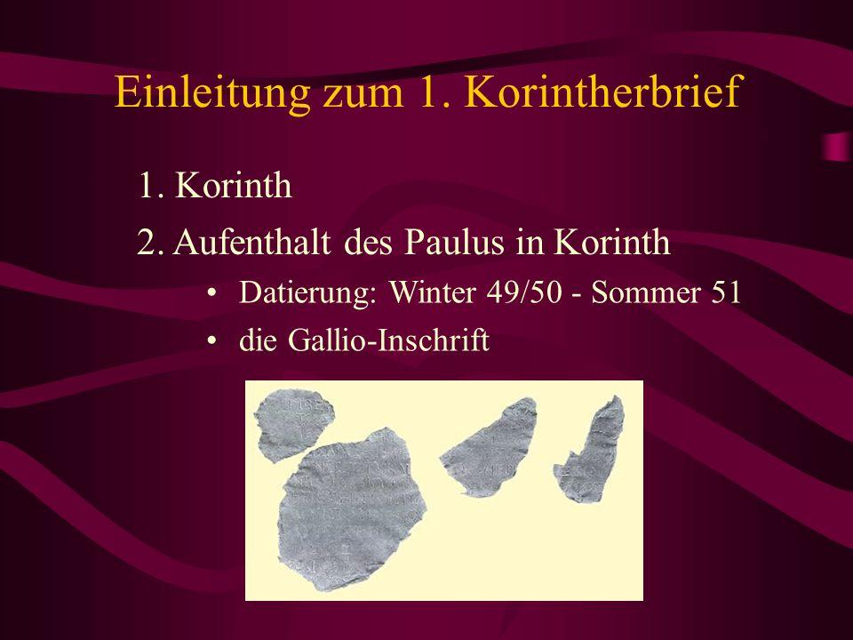 Datierung von Korinther