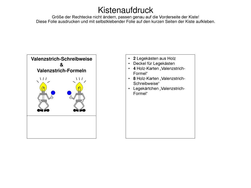 Valenzstrich-Schreibweise Valenzstrich-Formeln - ppt herunterladen