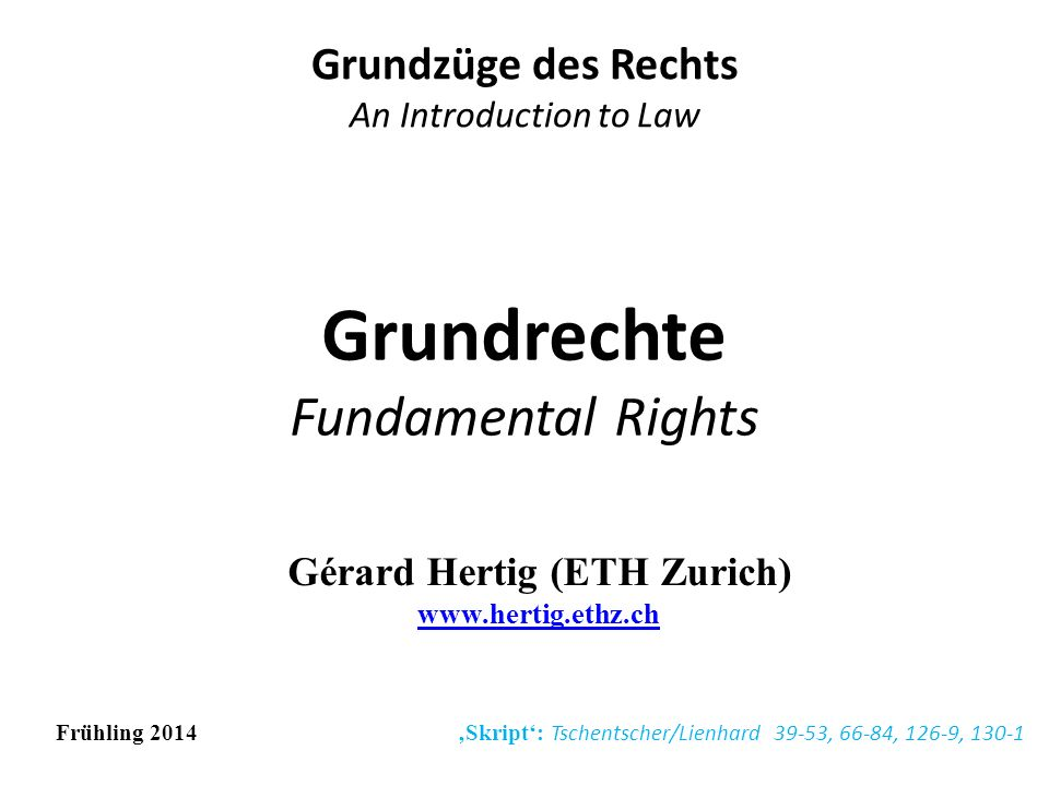 Grundrechte Fundamental Rights