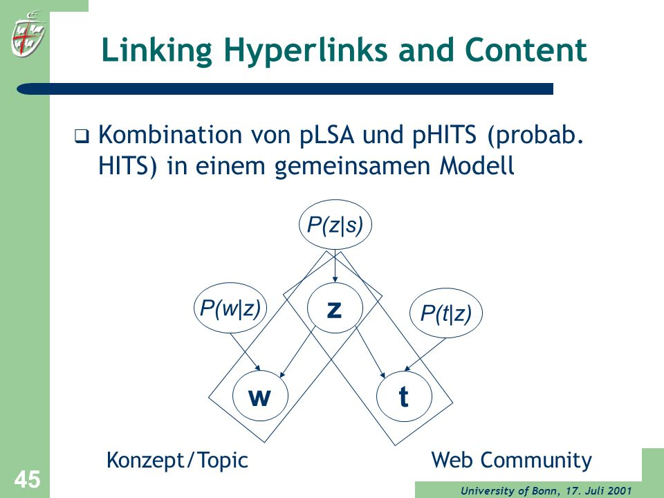 Linking Hyperlinks and Content