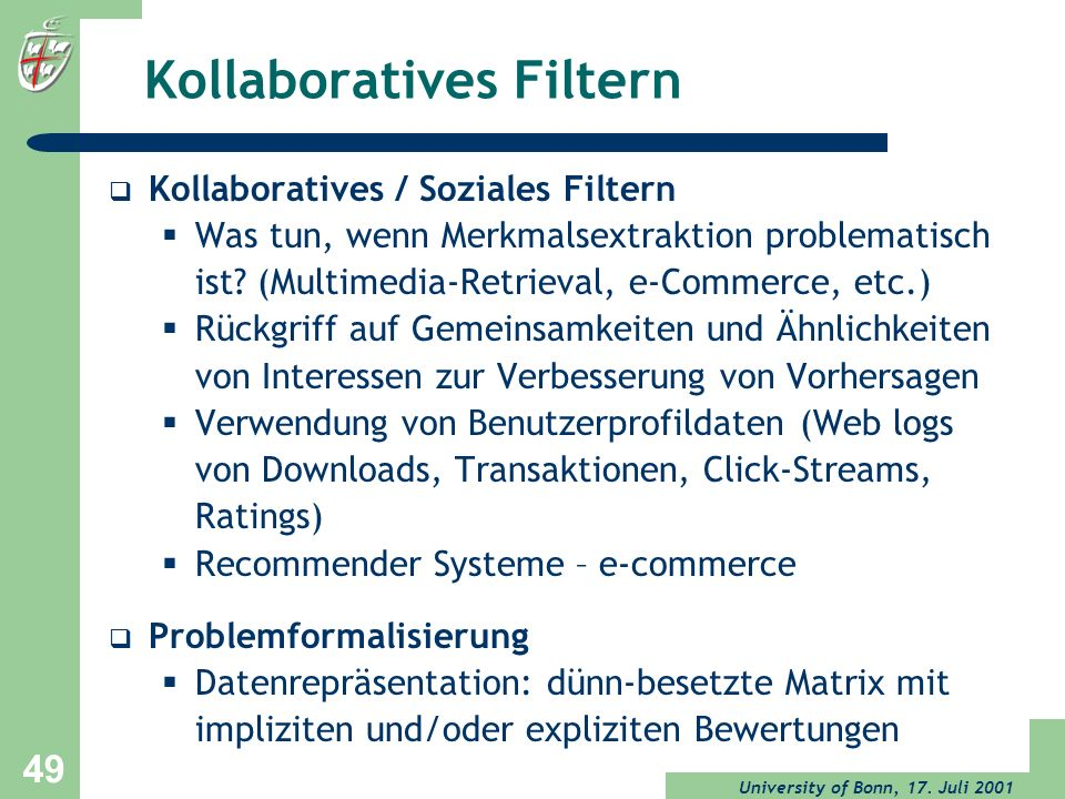 Kollaboratives Filtern