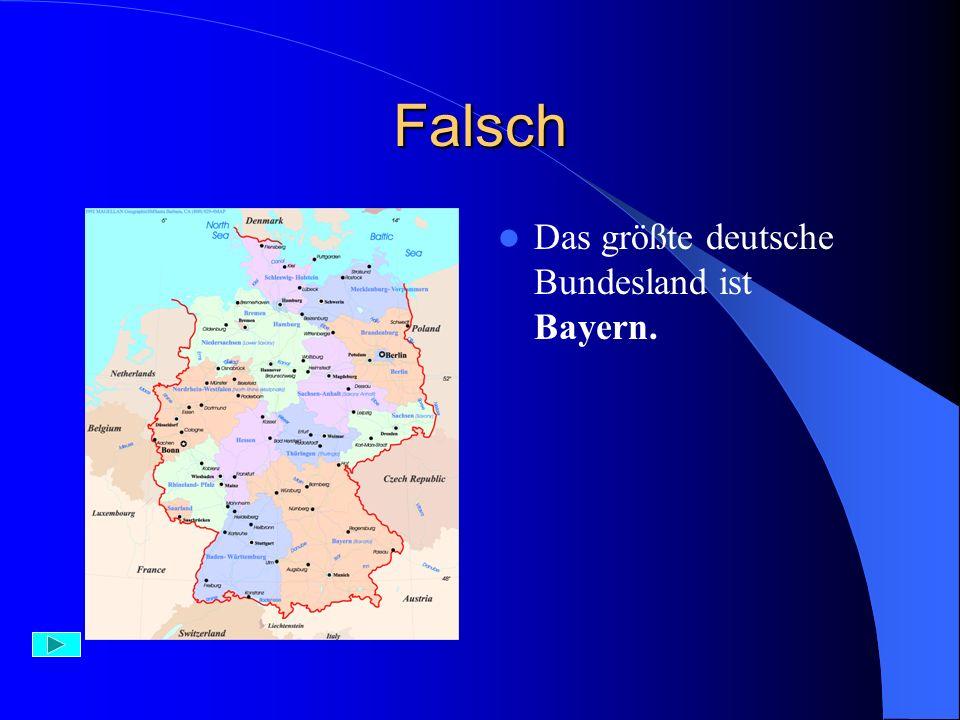 das größte bundesland deutschland