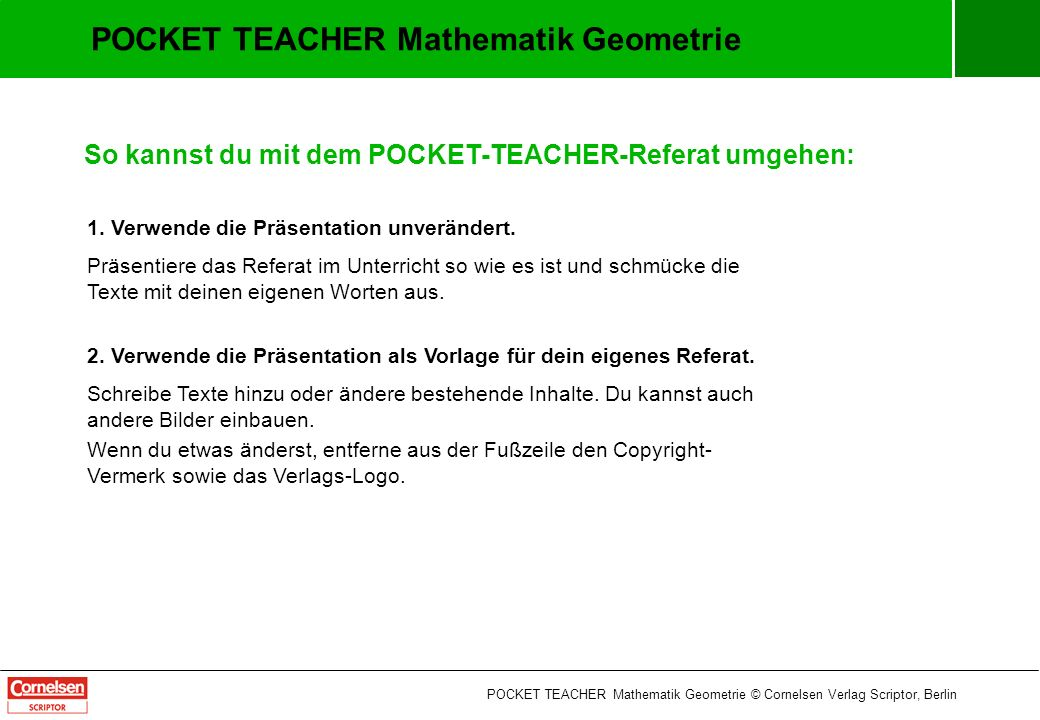 POCKET TEACHER Mathematik Geometrie