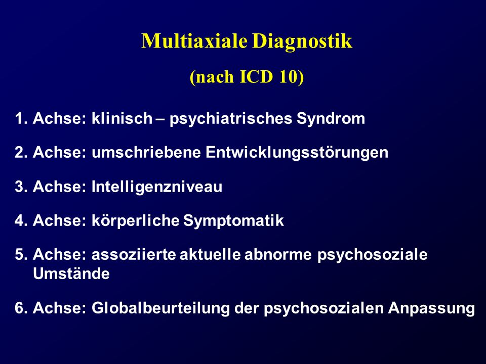 Multiaxiale Diagnostik