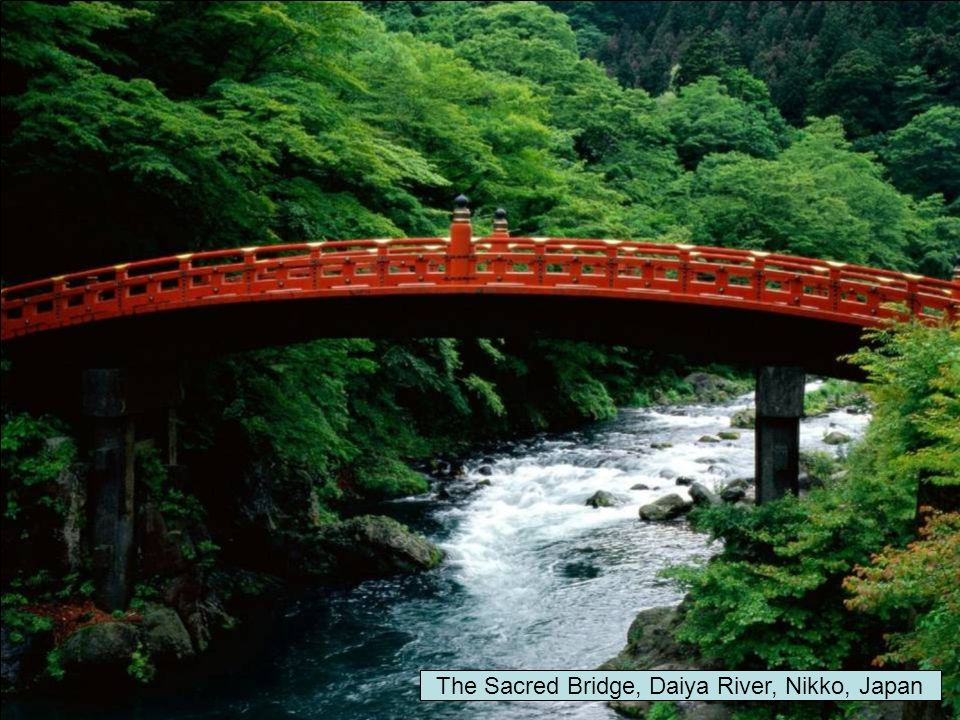 The Sacred Bridge, Daiya River, Nikko, Japan