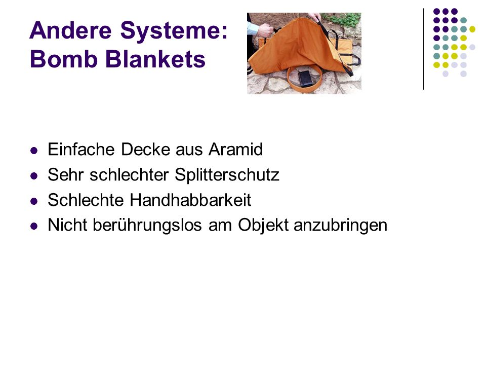Andere Systeme: Bomb Blankets