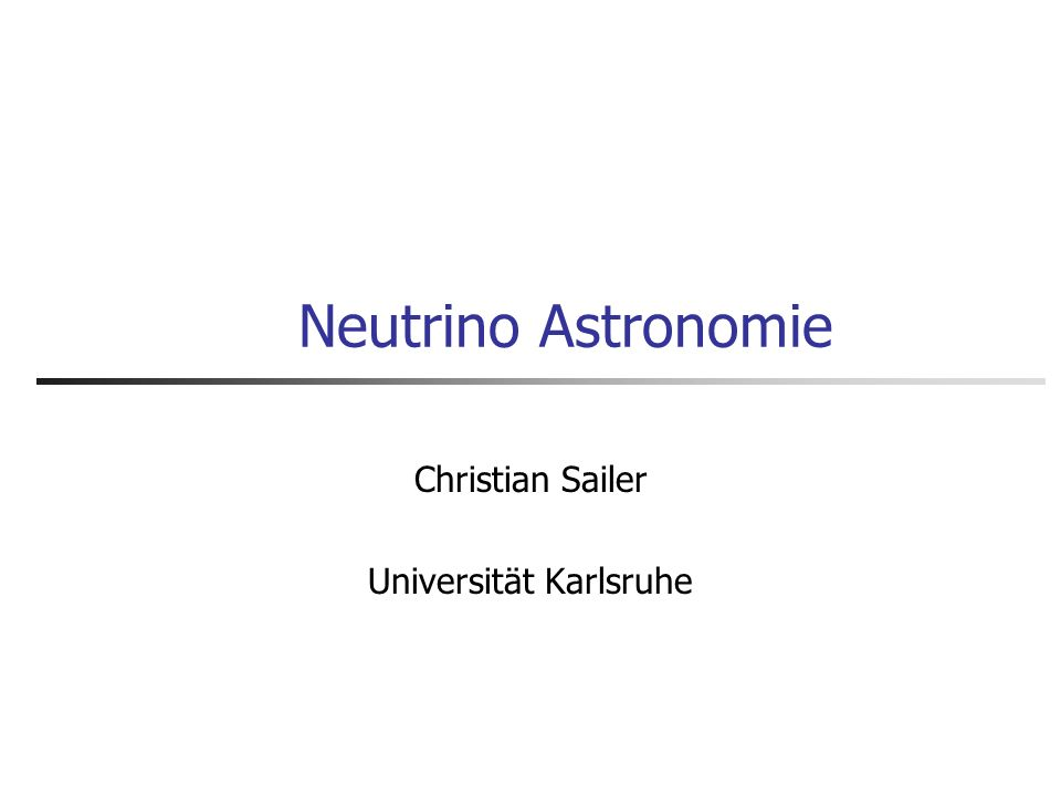 Christian Sailer Universität Karlsruhe