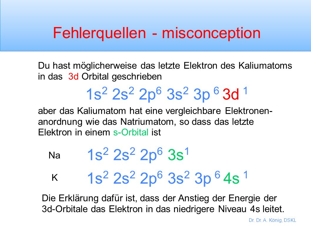 Fehlerquellen - misconception