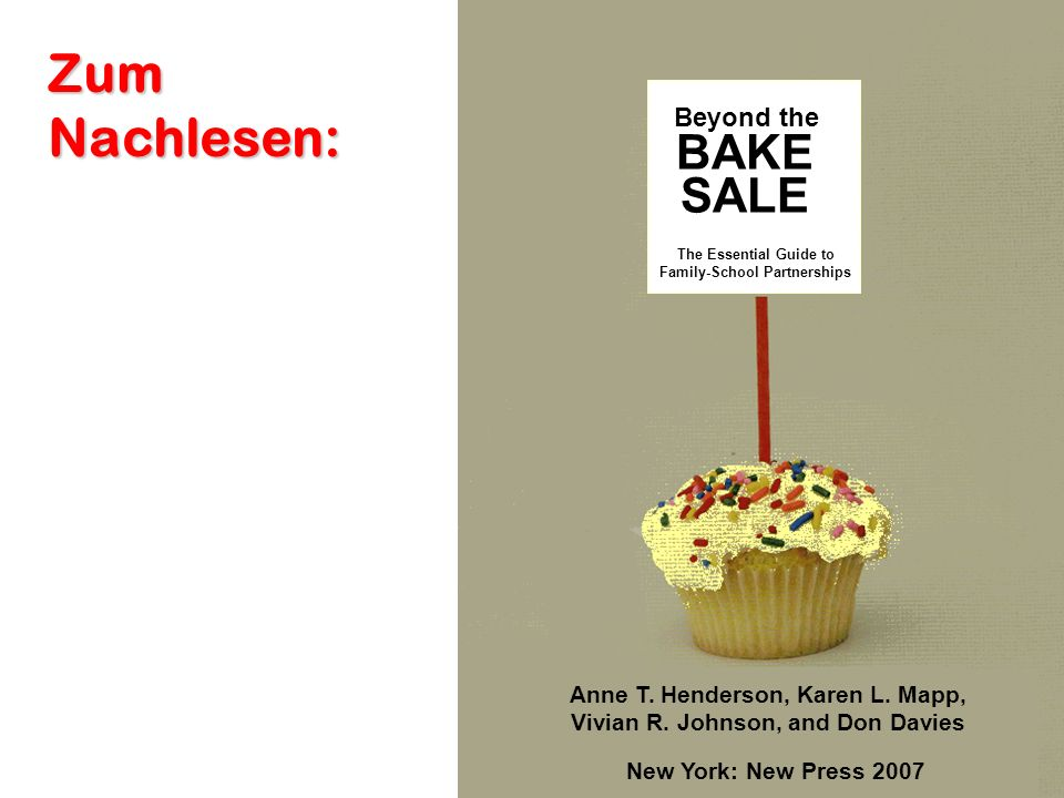 Zum Nachlesen: BAKE SALE Beyond the