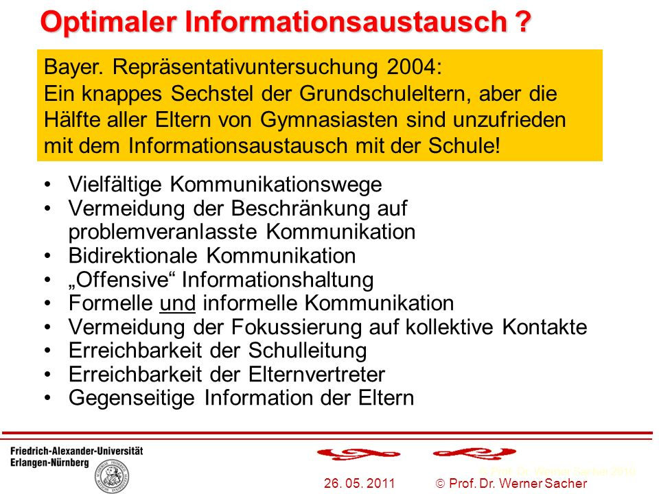 Optimaler Informationsaustausch