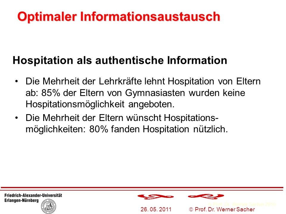 Hospitation als authentische Information