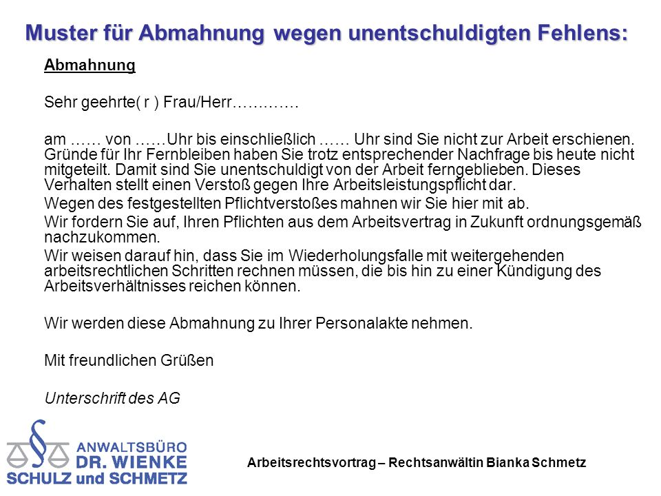 Vortrag Von Rechtsanwältin Bianka Schmetz Am Ppt Herunterladen