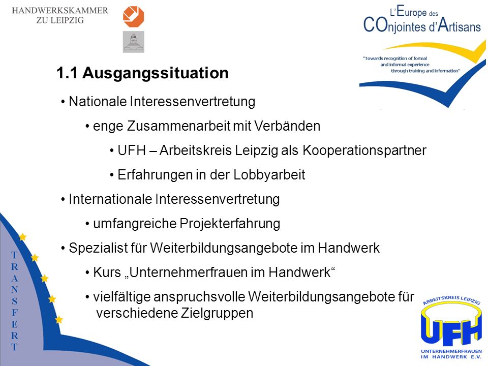 1.1 Ausgangssituation Nationale Interessenvertretung