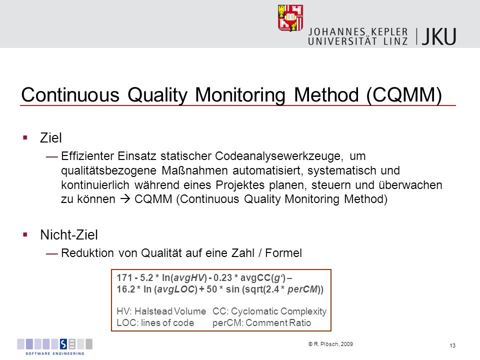 Continuous Quality Monitoring Method (CQMM)