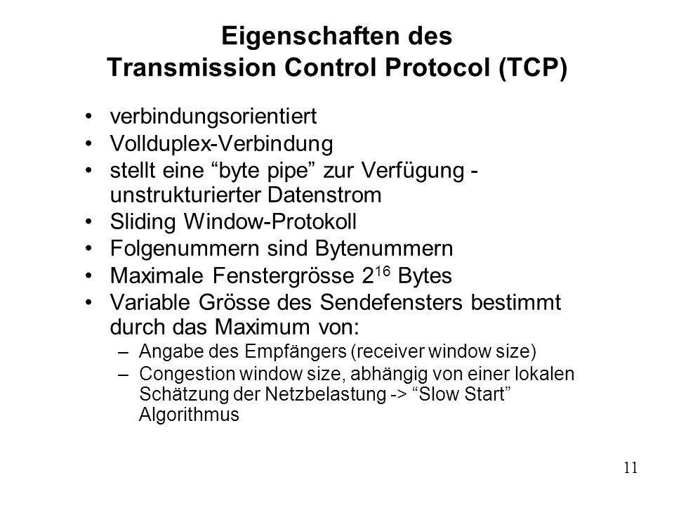 Relativ Die Transportprotokolle: Transmission Control Protocol (TCP) User YZ92