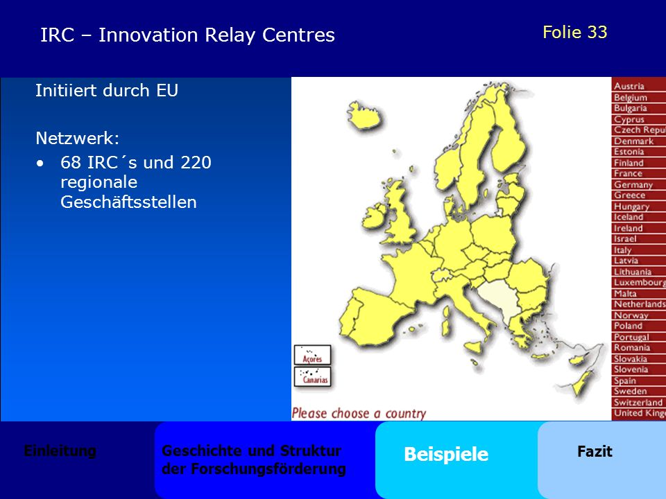 IRC – Innovation Relay Centres
