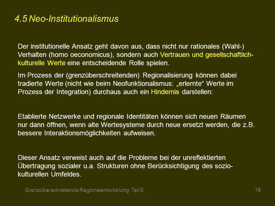 4.5 Neo-Institutionalismus