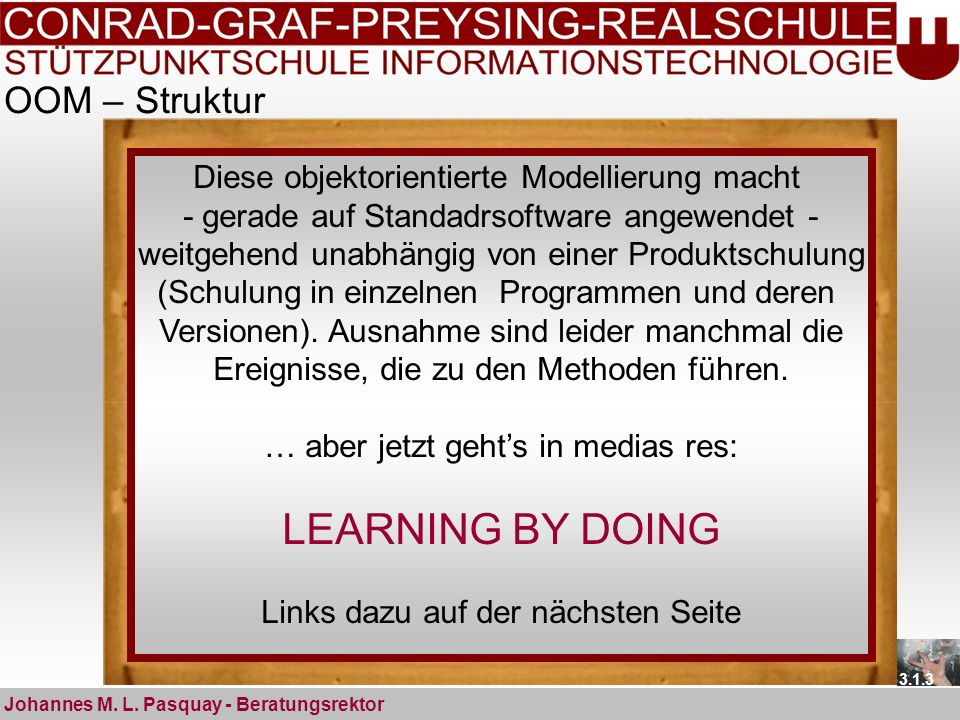 LEARNING BY DOING OOM – Struktur