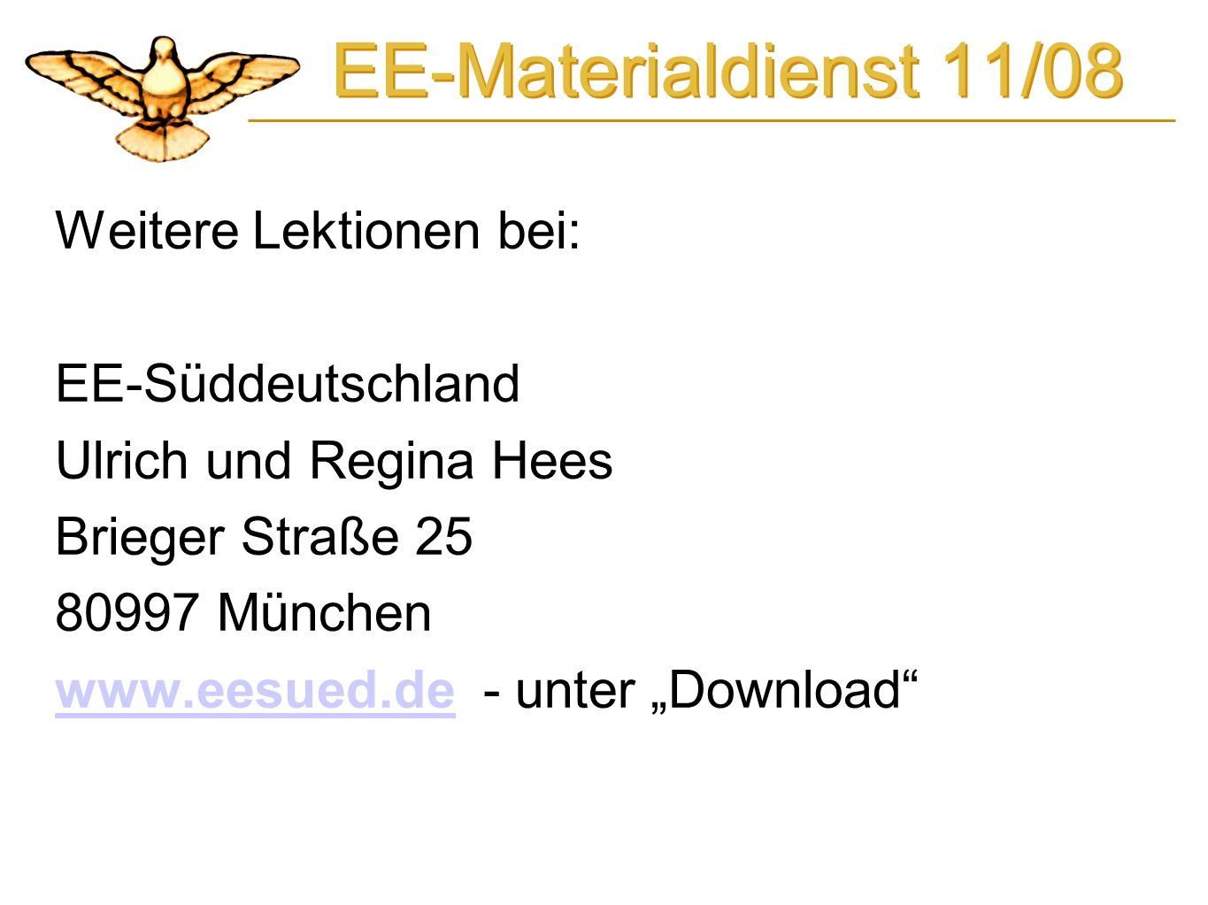 EE-Materialdienst 11/08