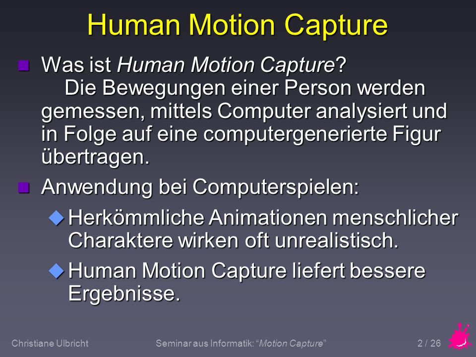 Human Motion Capture