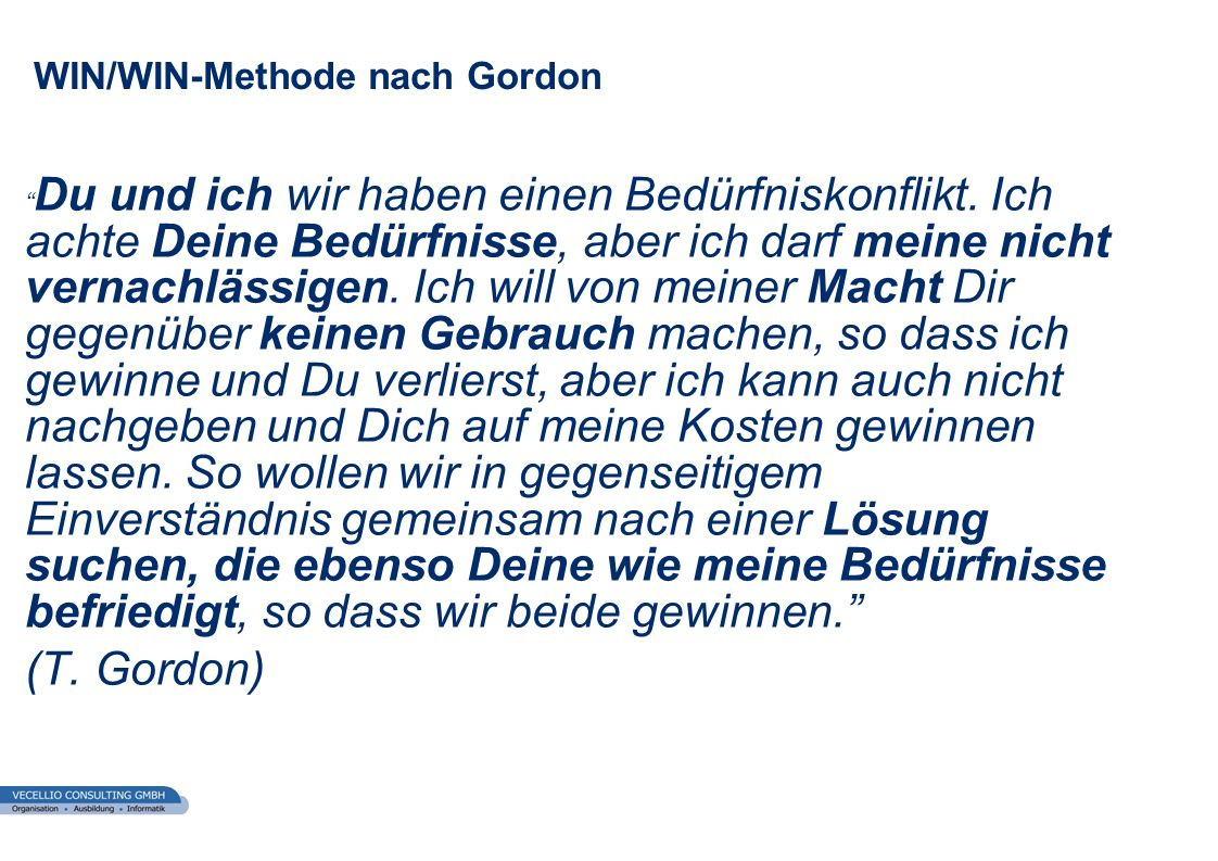WIN/WIN-Methode nach Gordon