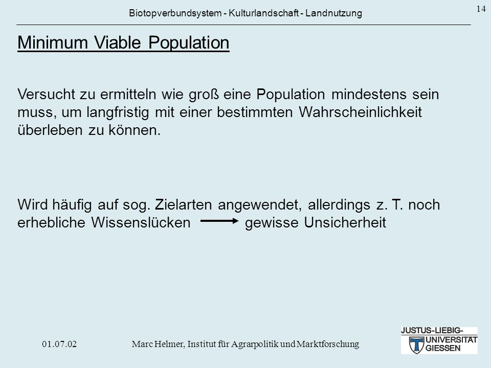 Minimum Viable Population