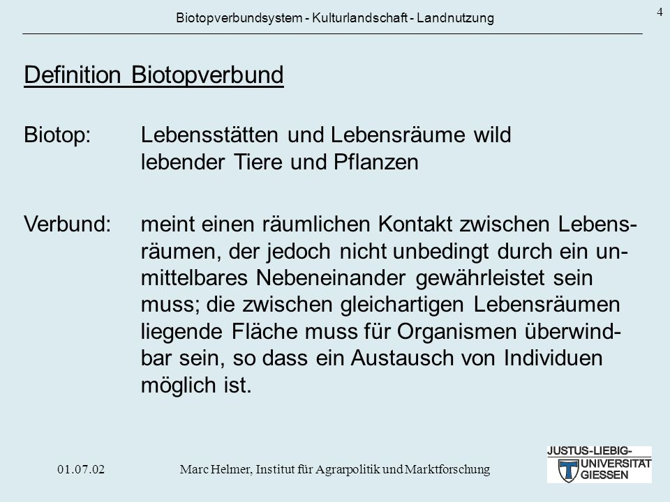 Definition Biotopverbund