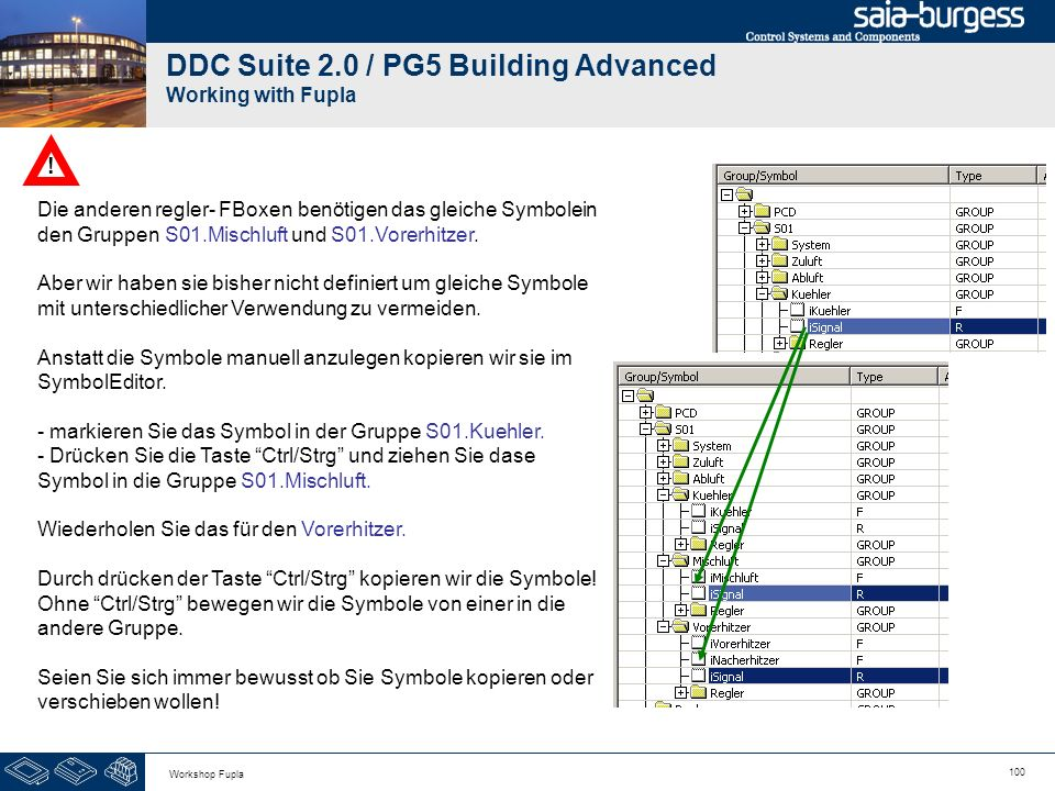 DDC Suite 2.0 / PG5 Building Advanced Working with Fupla