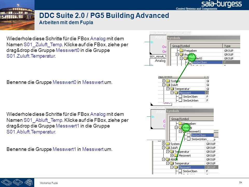 DDC Suite 2.0 / PG5 Building Advanced Arbeiten mit dem Fupla