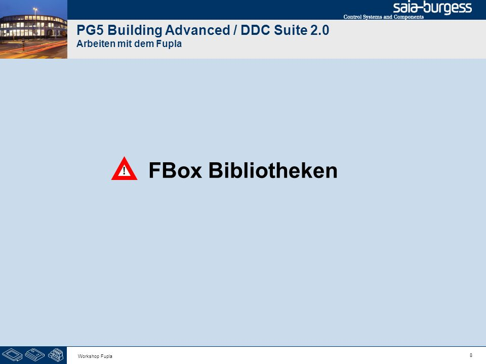 PG5 Building Advanced / DDC Suite 2.0 Arbeiten mit dem Fupla
