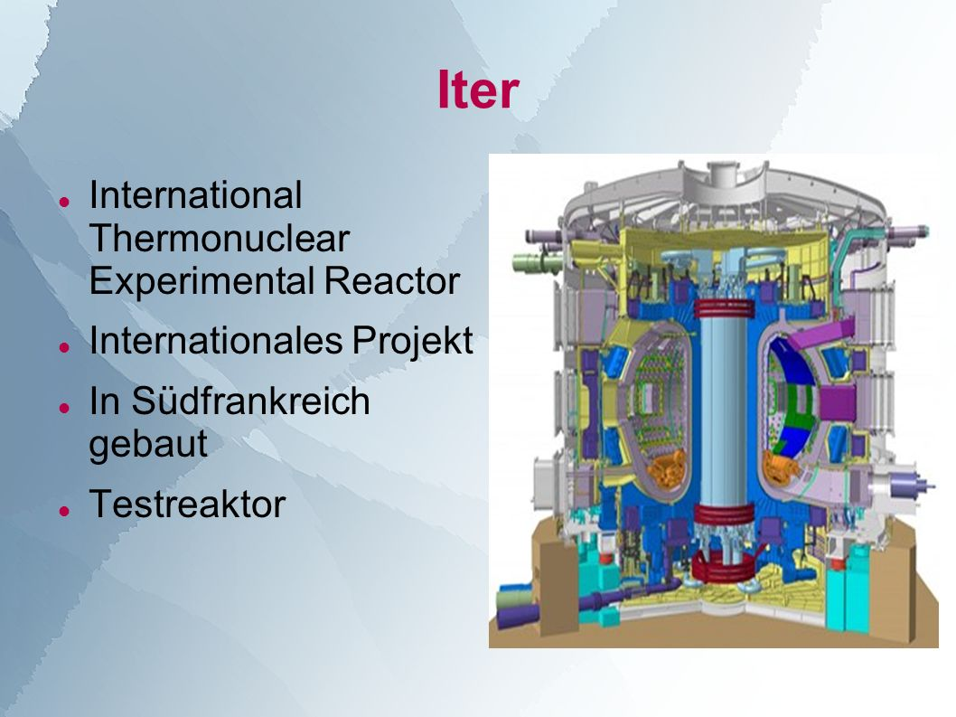 Iter International Thermonuclear Experimental Reactor