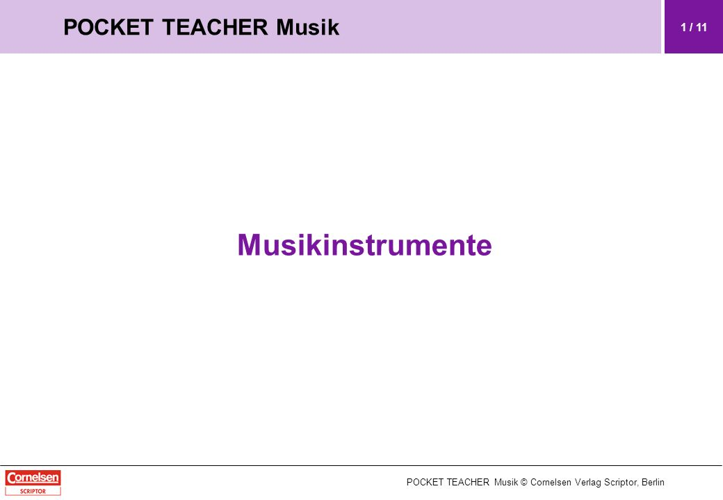 Musikinstrumente POCKET TEACHER Musik 1 / 11