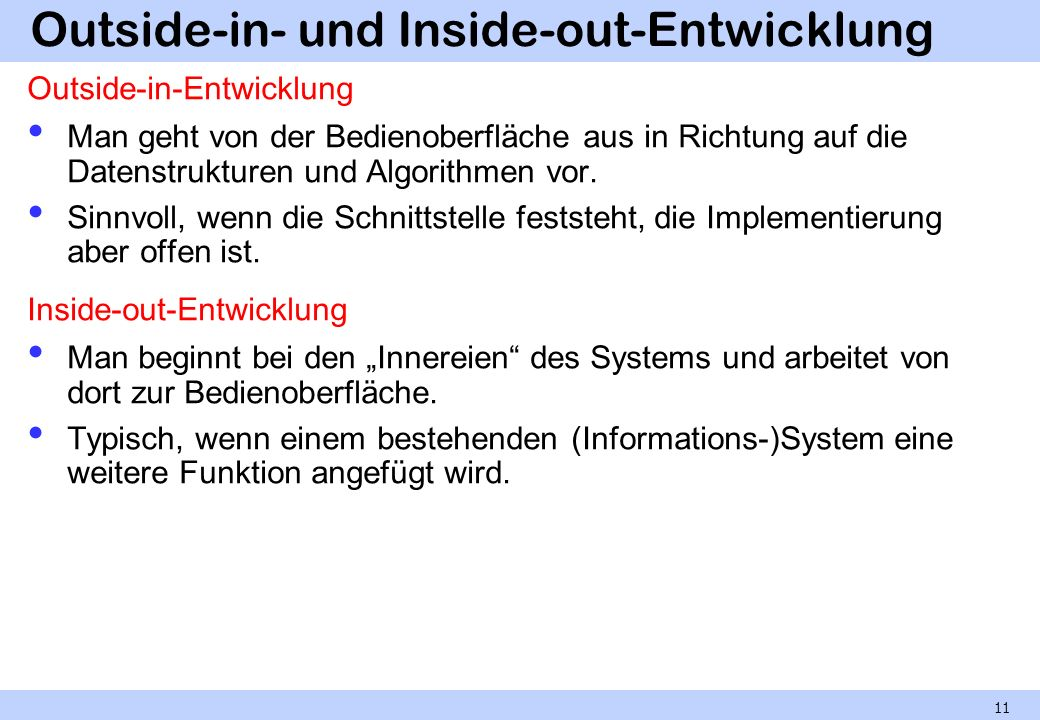 Outside-in- und Inside-out-Entwicklung