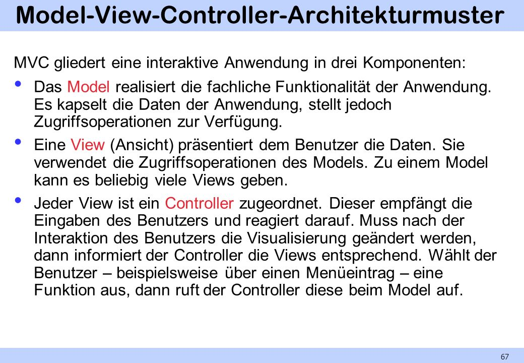 Model-View-Controller-Architekturmuster