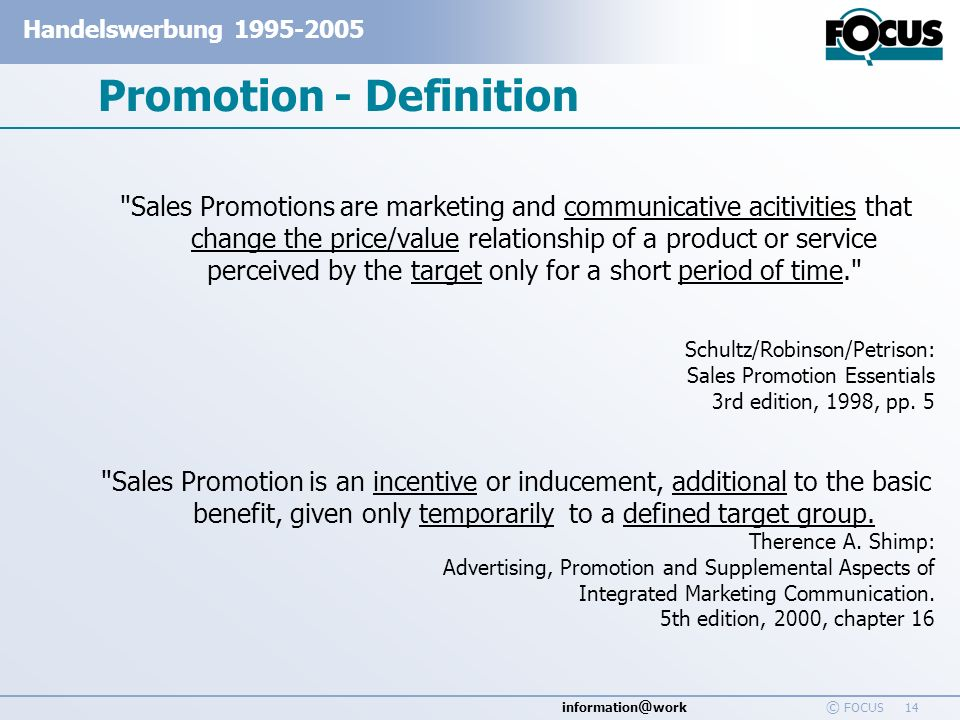 Promotion - Definition